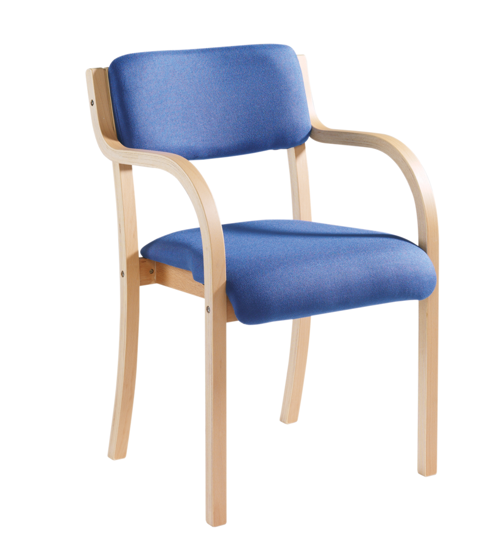 Prague Wooden Frame Conference Chair With Arms